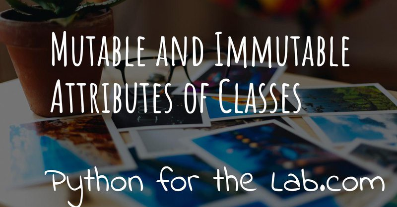 Mutable and immutable attributes of classes
