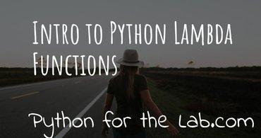 Intro to python lambda functions