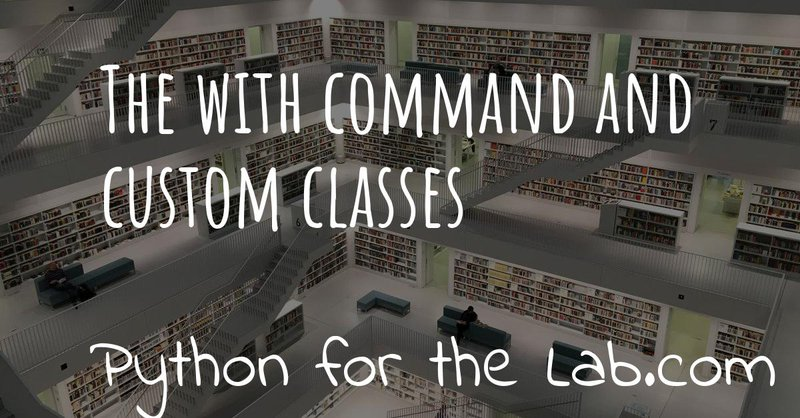 The With command and custom classes